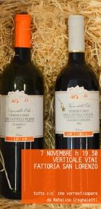 Degustazione verticale dei vini di Fattoria San Lorenzo