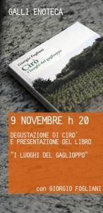 Degustazione vini Calabria: il Cirò e presentazione del libro di Giorgio Fogliani