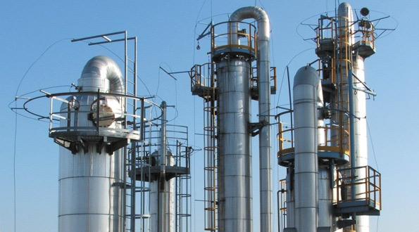 torre di distillazione continua