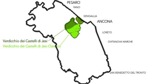 Verdicchio Castelli di Jesi mappa